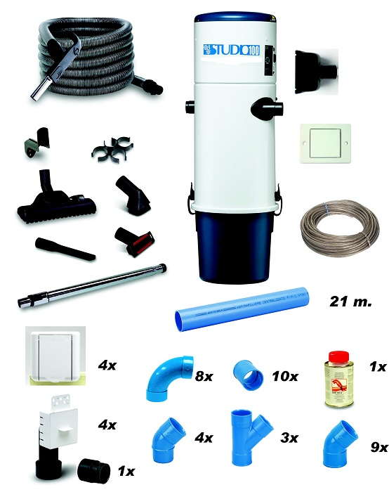 Aspirateur central kit S100